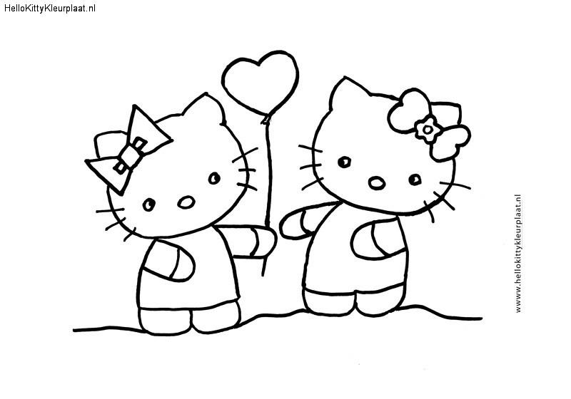 Hello-Kitty-kleurplaat-Voor-jou-van-mij