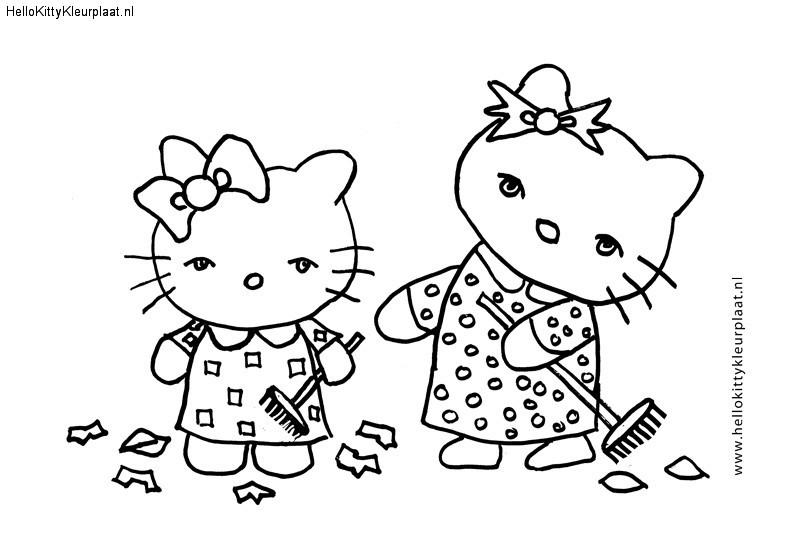 Hello Kitty samen vegen
