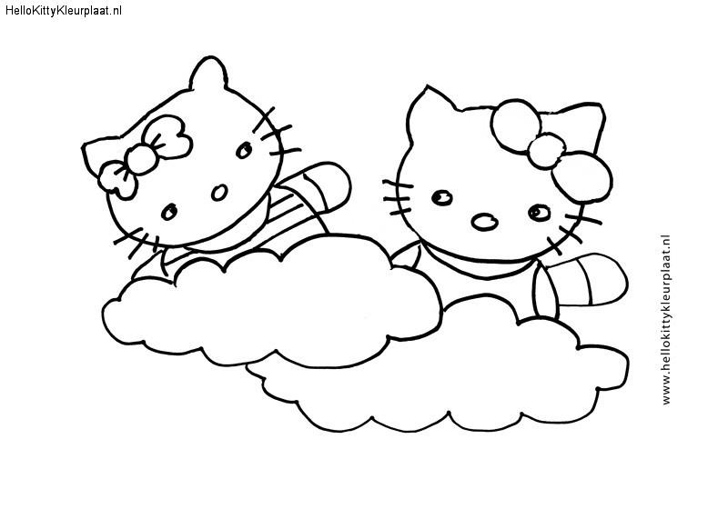Hello Kitty samen zijn wij in de wolken