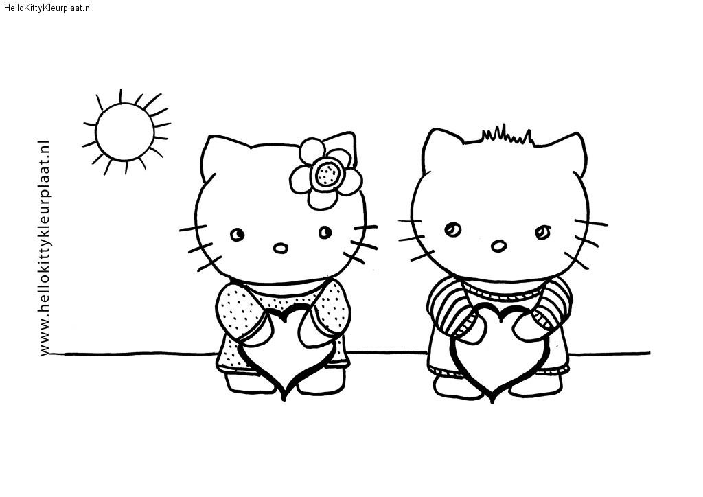 Hello Kitty en Dear daniel hebben een hart