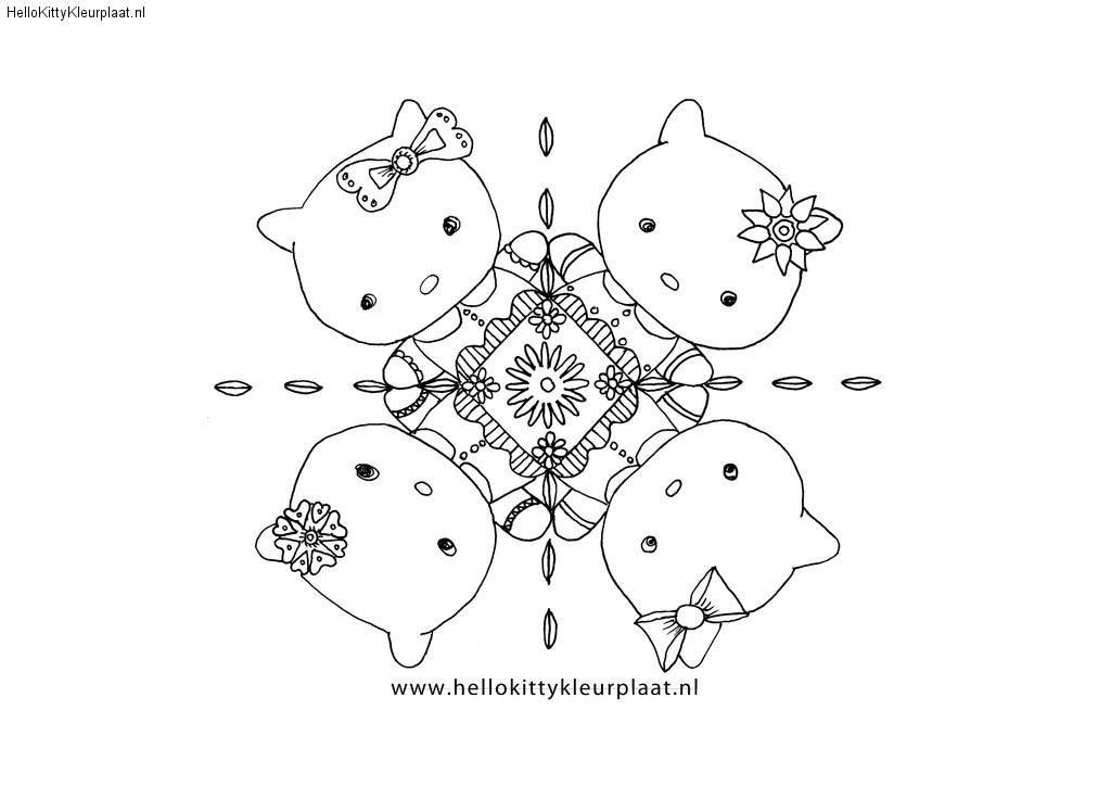 Hello Kitty mandala met vriendjes
