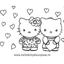 hello kitty kleurplaat valentijnsdag