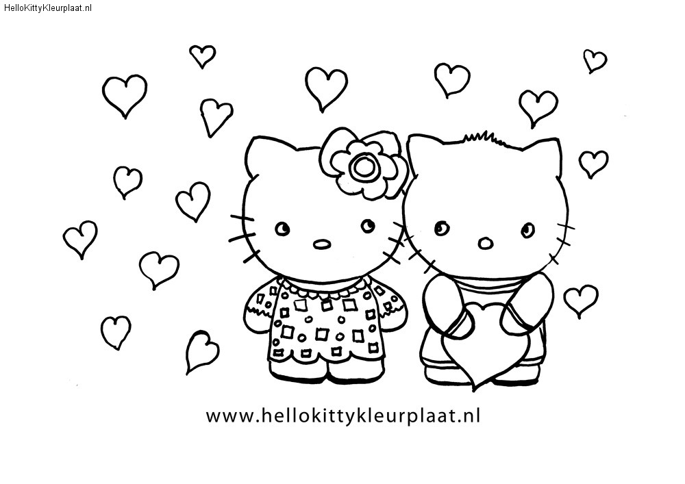 Hello Kitty And Dear Daniel Coloring Pages : Free coloring pages