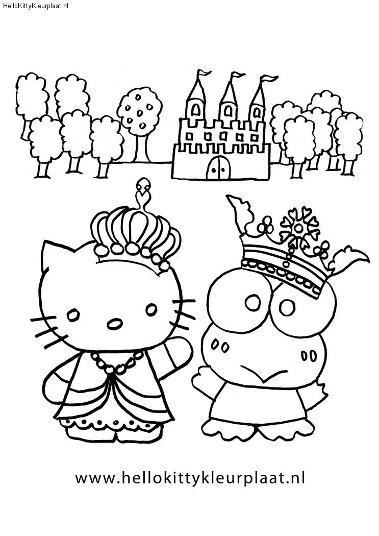 kleurplaat prinses-en-prins