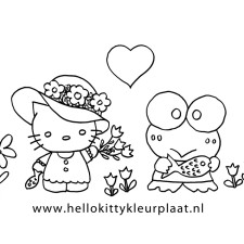 lente-kleurplaat-hello-kitty-en-keroppi