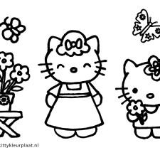 hello-kitty-kleurplaat-bloemen-voor-mama