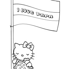 kleurplaat-i-love-papa-vlag