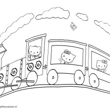 hello-kitty-kleurplaat-vakantie-met-de-trein
