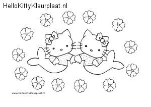 hello-kitty-kleurplaat-zeemeermin
