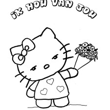 hello-kitty-kleurplaten-bloemen-media