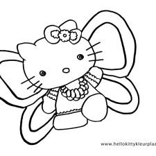 hello-kitty-kleurplaten-vlinder