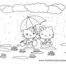 hello-kitty-zomer-kleurplaat-onder-moeders-paraplu