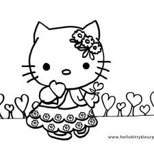 Hello-Kitty-moederdag-kleurplaten-met-hartjes-kleurplaat