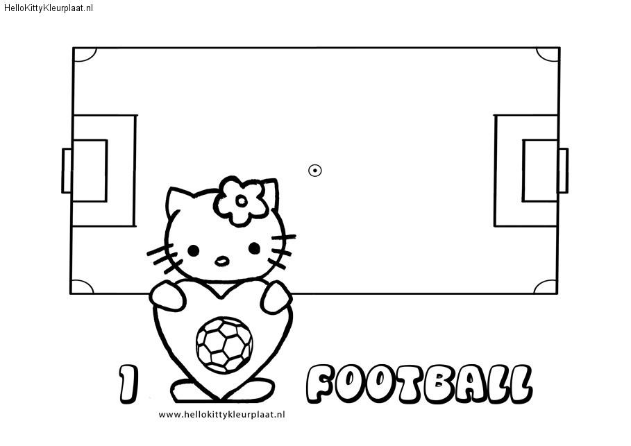 WK Kleurplaat Hello Kitty