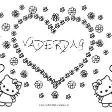 hart-kleurplaten-vaderdag-hello-kitty