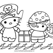 hello-kitty-piraten-kleurplaat-feest