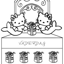 kleurplaten-vaderdag-hello-kitty