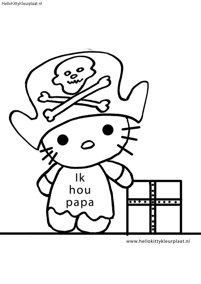 Piraat Kleurplaat Vaderdag