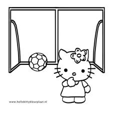 voetbal-kleurplaten-Hello-Kitty